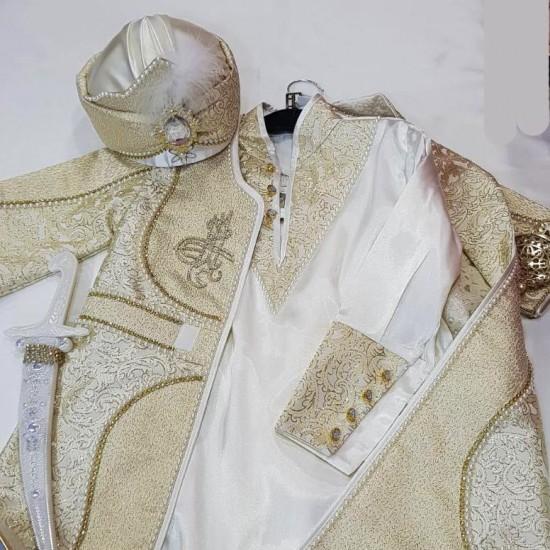 8 parça Şehzade Sünnet Kıyafeti ceyizalisverisi.com