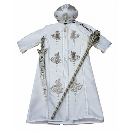 8 parça Tuğralı Kaftanı Sünnet Kıyafeti