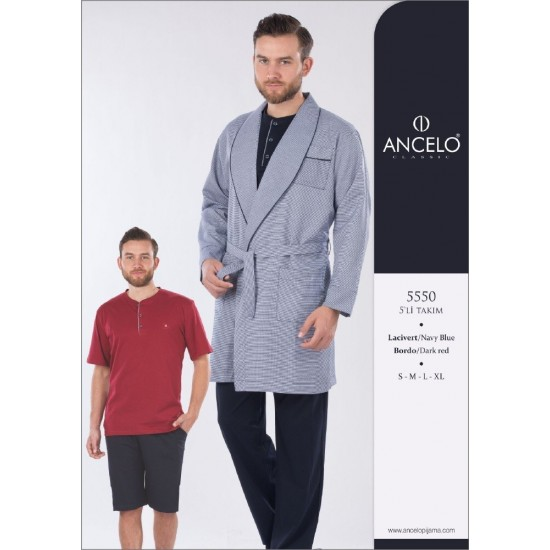 Ancelo Penye Ropdöşambr Pijama Şort Damat Tk 5550 ceyizalisverisi.com