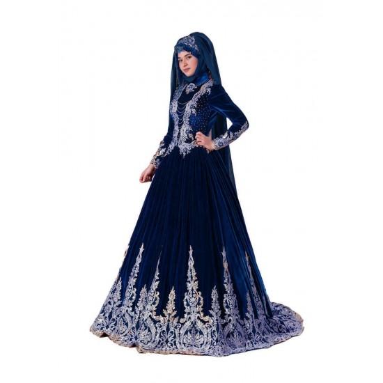Tesettür Modeli Bindallı Kına Elbisesi Lavin ceyizalisverisi.com